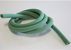 Green Plastazote Foam Tube and Cord