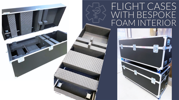 Flight Cases with bespoke foam interior