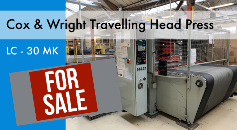 FOR SALE - Cox & Wright  LC - 30 MK2 Travelling Head Press